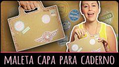 Maleta Capa para Caderno / Livro =DiY