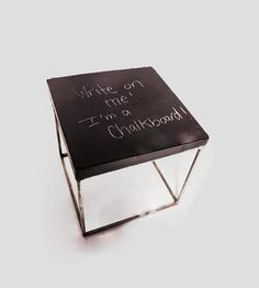 Berkeley Concrete Chalkboard Cube Table   by Patrick Cain Designs  on Scoutmob Shoppe