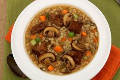 Meal-in-a-Bowl Mushroom Barley Soup