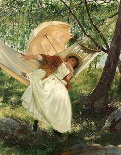 Robert Thegerström (Swedish artist, 1857–1919) Laziness 1887 It's About Time: A Renoir