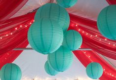 red and aqua party