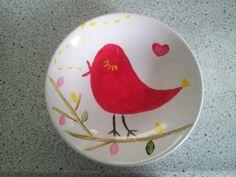 Porselein verven vogeltje
