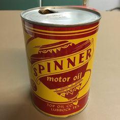 Spinner oil can