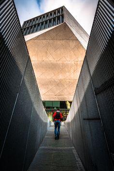 The entrance by Nuno Trindade on 500px----- Casa da Música; Oporto (Portugal)
