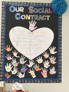 Social Contract for students in their classroom Classroom Contract, Classroom Norms, Social Contract, 3rd Grade Classroom, Classroom Walls, First Grade Teachers, Kindergarten Classroom, Future Classroom, Class Contract