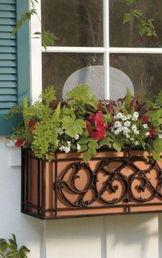 Beautiful Window Box Planters.