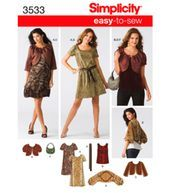 Simplicity Pattern 3533H5-Misses Dress Or Top, Jacket-Sz 6-14