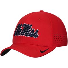 37afaf61 Ole Miss Rebels Nike Sideline Vapor Coaches Performance Flex Hat - Red