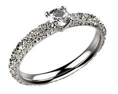1//8 Ct Round Cut noir et blanc diamant naturel 14K or Blanc sur Grappe Anneau
