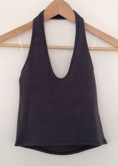 f11a8df3ea5c0 grey halter crop top  laidback Halter Crop Top