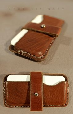 Leather iPhone 5 Case by Leon Litinsky.