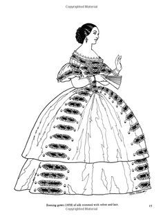 Fashions of the Old South Colouring Book (Dover Fashion