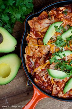 Chicken Enchilada Skillet..get dinner on the table in just 20 MINUTES!