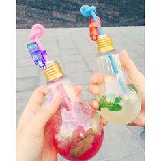 """韓国で話題の""""電球ソーダ""""がSNS上で話題になっています。その可愛さから写真を撮らずにはいられない!"""