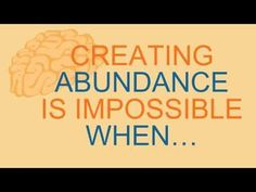 Creating Financial Abundance Eliminate 6 Negative Thought Patterns To Cr...