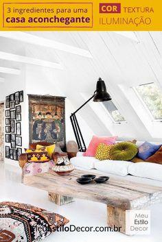 Para uma casa aconchegante combine cor, iluminação e textura