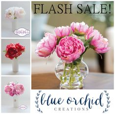 FLASH SALE  Silk Peony Arrangement Limited by blueorchidcreations