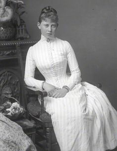 Princess Margaret of Prussia, granddaughter of Queen Victoria, c1887. Aged 15. Margaret was the youngest child ...