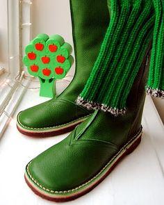 beautiful green boots