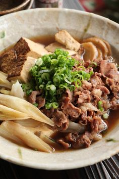 Japanese Food, Japanese Recipes, Beef Recipes, Meat, Cooking, Ethnic Recipes, Gourmet, Meat Recipes, Kitchen