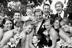 I would like this as a group shot with all of our friends at the wedding, not just the wedding party