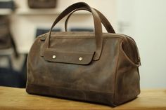 Hand-made genuine leather travel bag, handbag for men, LB0210