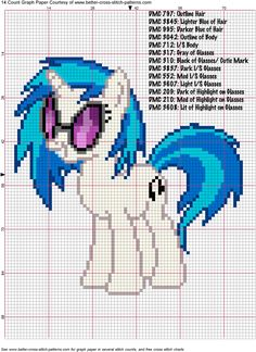 DJ PON3/ Vinyl Scratch Cross Stitch Pattern by AgentLiri on DeviantArt