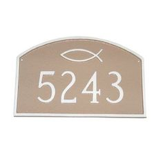 Montague Metal Products Prestige Ichthus Arch Standard Address Plaque Finish: Black / Gold, Mounting: Wall