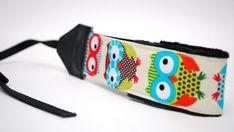 Owl Camera Wrist Strap  slr camera straps  by SassyStrap on Etsy