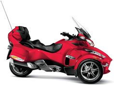 Red Color Model of 2012 Can-Am Spyder RT
