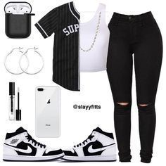 Baddie Outfits Casual, Swag Outfits For Girls, Cute Teen Outfits, Teenage Girl Outfits, Cute Comfy Outfits, Girls Fashion Clothes, Teen Fashion Outfits, Retro Outfits, Stylish Outfits