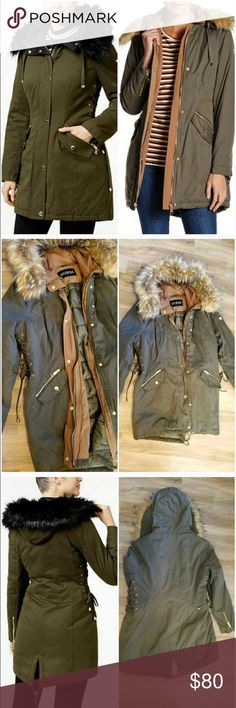 Guess winter coat Like brand new! Bought from poshmark, but I don't think I'm going to wear again we're having a very warm winter here in NC, rather let someone else have the chance to get more use out of this beauty! Guess Jackets & Coats