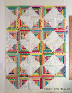 Last Saturday I decided to pull out my log cabin blocks. I thought it would be fun to try to double the amount that I had made...so my goa...
