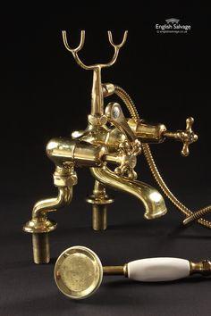 Reclaimed Brass Bath / Shower Mixer Set