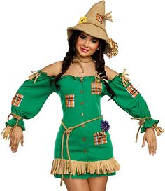 Dreamgirl Women's Storybook Scarecrow Scarecrow Costume Adult, Zombie Costume Women, Adult Costumes, Costumes For Women, Halloween Costumes, California Costumes, Amazon Clothes, Brown Booties, Costume Dress