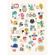 PS ik hou van jou ABC-poster | Loods 5 | Kunst | Jouw stijl in huis meubels & woonaccessoires
