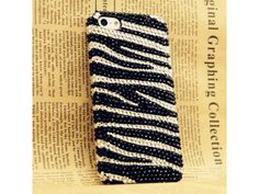 Lovely Zebra Pattern Crystal iPhone 5 Case