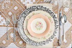 DIY Handwritten Plates