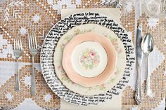 DIY Handwritten Plates