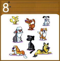 * Cijfer/schrijfkaarten 8-10