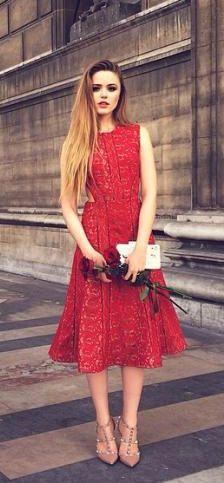 entrancing red dress