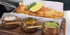 Fish and Chips, Mushy Peas and Tartar Sauce