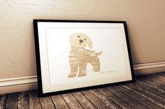Cockapoo Art Print  Unframed Dog Wall Art by TrulyYoursPersonally