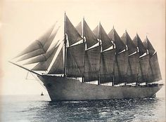 The World's Only Seven Masted Schooner