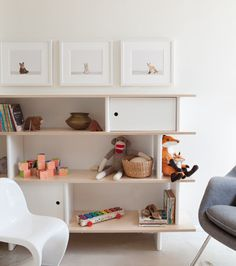 Modern Children's Mini-Library - The Mini Library by Oeuf is ideal for storing books and toys. It is easy to assemble and so cool, we think it really can be used in any room of the house. $660