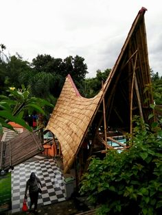 Bamboo structure Tirtania Waterpark Bogor - Indonesia