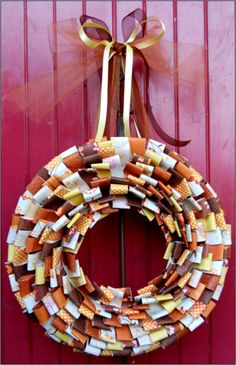 Lovely autumn wreath is made of paper loops—get the how-to from Heartland Paper