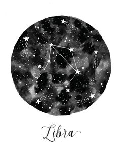 Libra Constellation Art Print