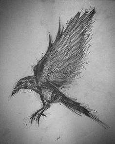 #crow #drawing #drawing2me
