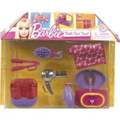 Barbie Bath Spa Time! Playset by Mattel. $19.88. Barbie doll house accessories  for Beauty Parlor, hair salon. Dollhouse items lot.